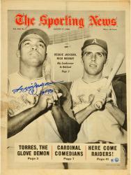 Reggie Jackson New York Yankees Autographed Lumberman Oak Sporting News with HOF 93 Inscription