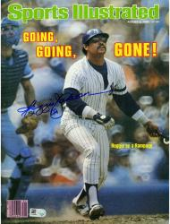 Reggie Jackson New York Yankees Autographed Going Gone Sports Illustrated with HOF 93 Inscription - Mounted Memories