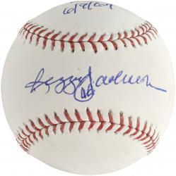 Reggie Jackson Autographed Baseball - MLB Debut 6/9/67