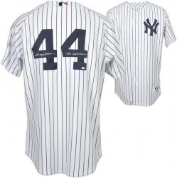 Majestic Reggie Jackson New York Yankees Autographed Jersey with ''Mr. October'' Inscription - Mounted Memories
