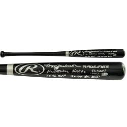 Reggie Jackson New York Yankees Autographed Rawlings Pro Bat with Multiple Inscription - Mounted Memories