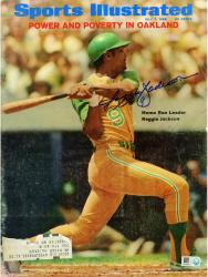 Reggie Jackson Oakland Athletics Autographed Power in Oakland Sports Illustrated - Mounted Memories
