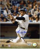 Reggie Jackson New York Yankees Autographed 8'' x 10'' Watching Hit Photograph - Mounted Memories