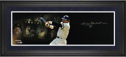 Reggie Jackson New York Yankees Framed Autographed 10'' x 30'' Filmstrip Photograph - Mounted Memories