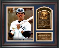 "Reggie Jackson Baseball Hall of Fame Framed 15"" x 17"" Collage with Facsimile Signature"