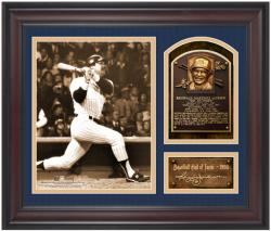Reggie Jackson New York Yankees Framed Hall of Fame Milestones & Memories Photograph with Facsimile Signature - Mounted Memories