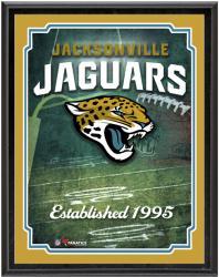 """Jacksonville Jaguars Team Logo Sublimated 10.5"""" x 13"""" Plaque"""