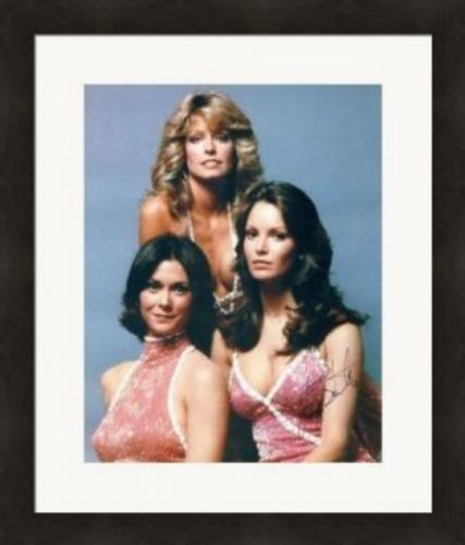 Jaclyn Smith autographed 8x10 Photo (Charlies Angels) #SC2 Matted & Framed