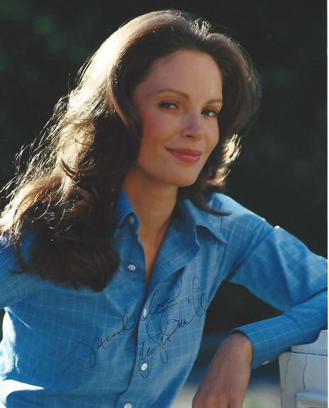 """JACLYN SMITH - Best Known as KELLY GARRETT in the TV Series """"CHARLIE'S ANGELS"""" Signed 8x10 Color Photo"""