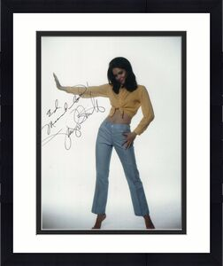 JACLYN SMITH HAND SIGNED 8x10 COLOR PHOTO+COA     YOUNG+GORGEOUS POSE      TO ED