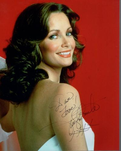 JACLYN SMITH HAND SIGNED 8x10 COLOR PHOTO+COA       YOUNG+GORGEOUS      TO DAVE