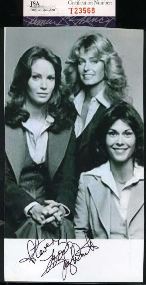 Jaclyn Smith Hand Signed Jsa Coa 4x7 Photo Autographed Authentic