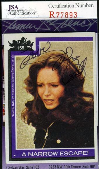 Jaclyn Smith Hand Signed Jsa Topps Charlies Angels Card 155 Autograph Authentic