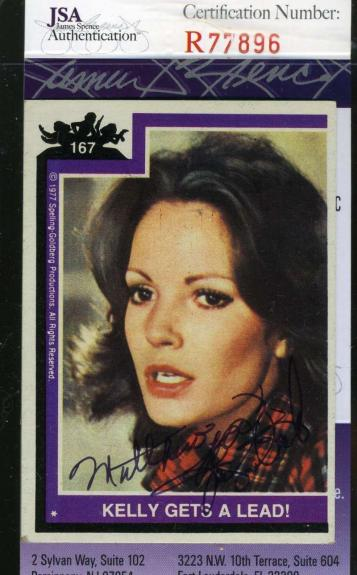 Jaclyn Smith Hand Signed Jsa Topps Charlies Angels Card 167 Autograph Authentic