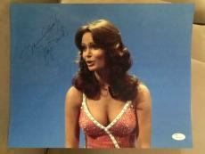 JACLYN SMITH HAND SIGNED OVERSIZED 11x14 COLOR PHOTO     CHARLIE'S ANGELS    JSA