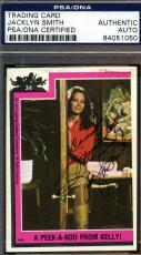 JACLYN SMITH Hand Signed PSA DNA Topps Charlies Angels Card 34 Autograph