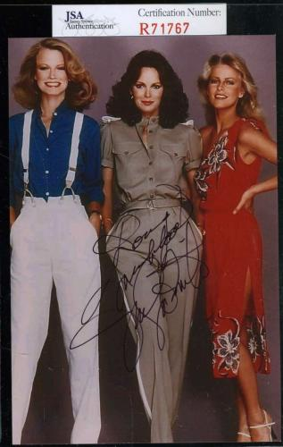 Jaclyn Smith Jsa Coa Hand Signed Charlies Angels Photo Authentic Autograph
