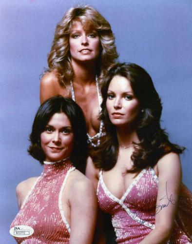 JACLYN SMITH JSA HAND SIGNED CHARLIES ANGELS 8x10 PHOTO AUTHENTICATED AUTOGRAPH
