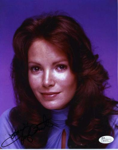 JACLYN SMITH JSA SIGNED CHARLIES ANGELS 8x10 PHOTO AUTHENTIC AUTOGRAPH