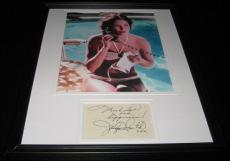 Jaclyn Smith SEXY Poolside Facsimile Signed Framed 11x14 Photo Display