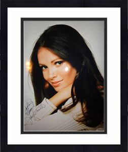 JACLYN SMITH SIGNED OVERSIZED 11x14 COLOR PHOTO       SIGNED TO JOHN       JSA