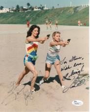 JACLYN SMITH+CHERYL LADD HAND SIGNED 8x10 COLOR PHOTO     SIGNED TO STEVE    JSA