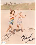 JACLYN SMITH+CHERYL LADD HAND SIGNED 8x10 COLOR PHOTO    CHARLIE'S ANGELS    JSA