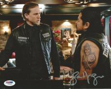Jacob Vargas Signed 8x10 Photo PSA/DNA Sons of Anarchy Picture w/ Charlie Hunnam