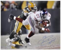 Brandon Jacobs Autographed Photograph - 16x20 Mounted Memories
