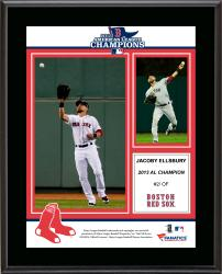 "Jacoby Ellsbury Boston Red Sox 2013 American League Champions Sublimated 10.5"" x 13"" Plaque"