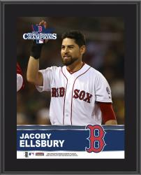 Jacoby Ellsbury Boston Red Sox 2013 MLB World Series Champions 10'' x 13'' Sublimated Player Plaque - Mounted Memories