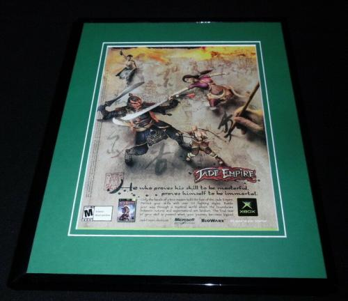 Jade Empire 2005 XBox 11x14 Framed ORIGINAL Advertisement XBox