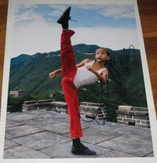 Jaden Smith Signed 11x14 Photo The Karate Kid Autograph Will Smith Coa