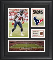 Jadeveon Clowney Houston Texans Framed 15'' x 17'' Collage with Game-Used Football