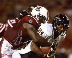 Jadeveon Clowney South Carolina Gamecocks Autographed 8'' x 10'' Photograph - Mounted Memories