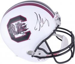 Jadeveon Clowney South Carolina Gamecocks Autographed Riddell Replica Helmet - Mounted Memories