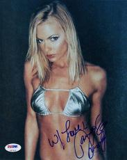 JAIME PRESSLY SIGNED AUTOGRAPHED 8x10 PHOTO SEXY IN BIKINI PSA/DNA