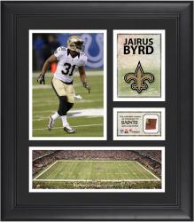 Jairus Byrd New Orleans Saints Framed 15'' x 17'' Collage with Game-Used Football