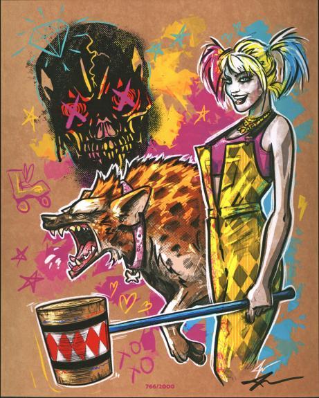 Jake Geiger Batman Signed 8x10 Harley Quinn Fan Art Print LE #766/2000