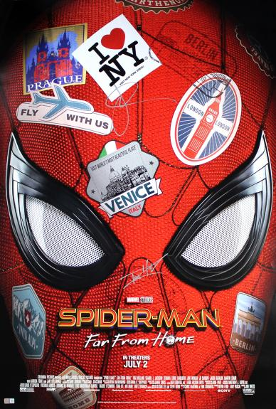 Jake Gyllenhaal & Tom Holland Autographed 'Spider-Man: Far from Home' Movie Poster