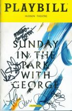 Jake Gyllenhaal autographed Broadway Playbill Sunday in the Park with George signed by 6 cast members
