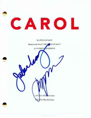 Jake Lacy Signed Autograph - Carol Full Movie Script - Cate Blanchett