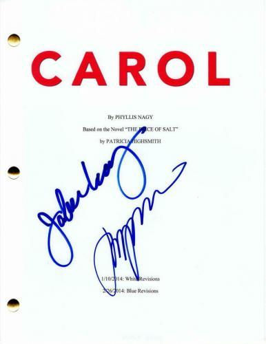 Jake Lacy & Todd Haynes Signed Autograph Carol Movie Script - Cate Blanchett