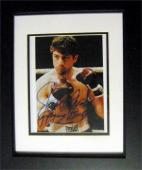 Jake LaMotta autographed 8x10 picture inscribed raging bull Robert Deniro from movie image #1 (Boxing) Matted Framed