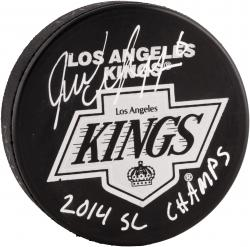 Jake Muzzin Los Angeles Kings 2014 Stanley Cup Champions Autographed Hockey Puck with 2014 SC Champs Inscription