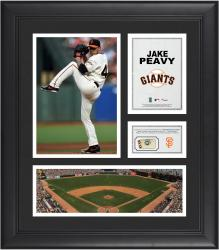 Jake Peavy San Francisco Giants Framed 15'' x 17'' Collage with Piece of Game-Used Ball