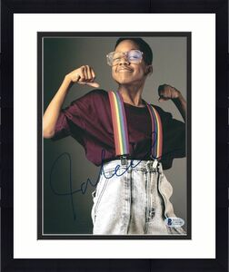 Jaleel White Signed Family Matters 8x10 Photo *Urkel Beckett C16546