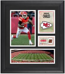 "Jamaal Charles Kansas City Chiefs Framed 15"" x 17"" Collage with Game-Used Football"