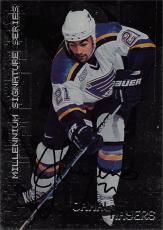 Jamal Mayers autographed Hockey Card (St. Louis Blues) 1999 In The Game Millennium Series #206