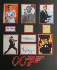 James Bond 007 (5) Signed Matted Display-Connery, Dalton, Moore, Brosnan PSA/DNA